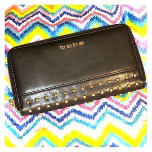 Bebe LA - Leather Studded ID/Change Wallet NWOT